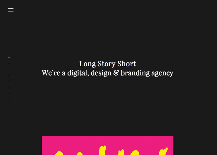 Awwwards website of the day: Long Story Short