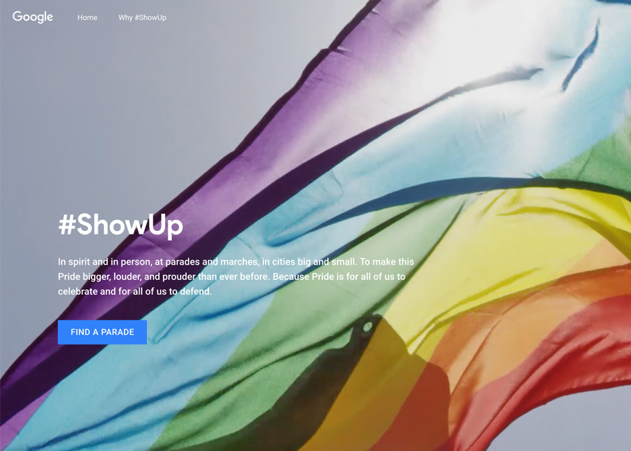 Awwwards website of the day: #ShowUp