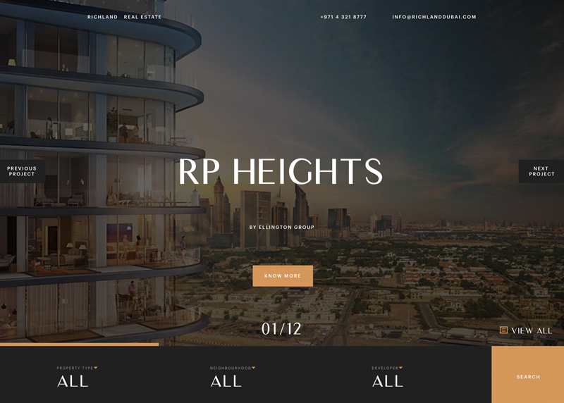 Awwwards website of the day: Richland Real Estate