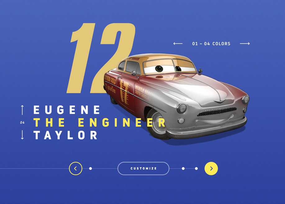 Awwwards website of the day: Cars 3