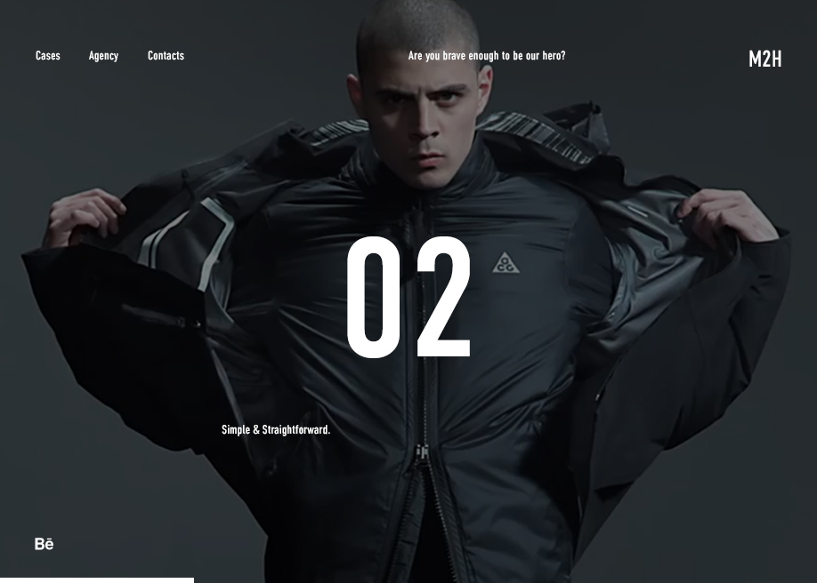 Awwwards website of the day: M2H agency