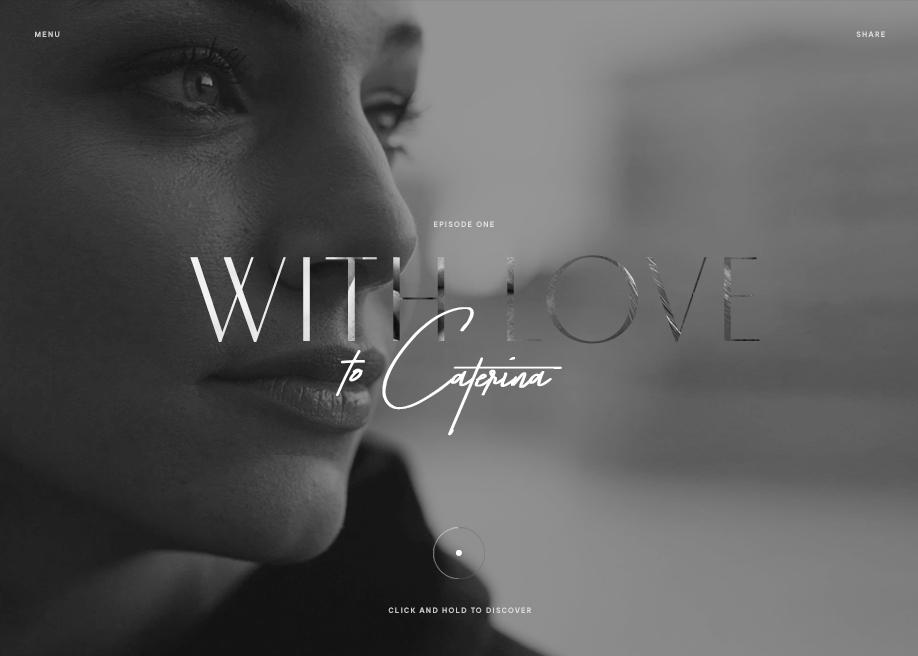 Awwwards website of the day: Piero Milano