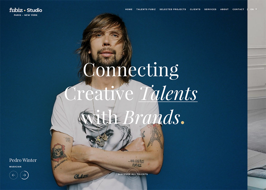 Awwwards website of the day: Fubiz Studio
