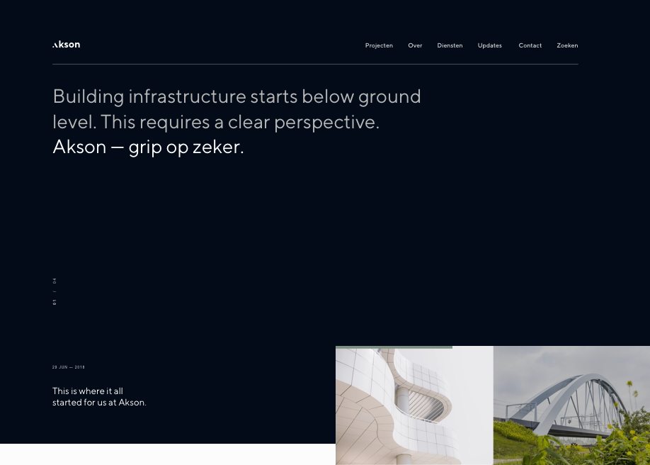 Awwwards website of the day: Akson