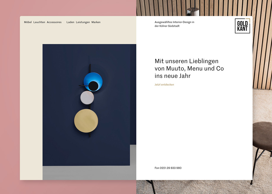 Awwwards website of the day: Goldkant Interior