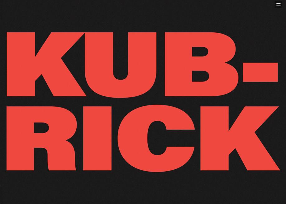 Stanley Kubrick. Work and life