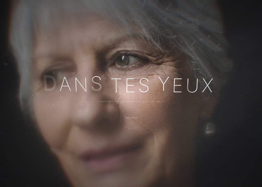 Awwwards website of the day: DMLA - Dans tes yeux