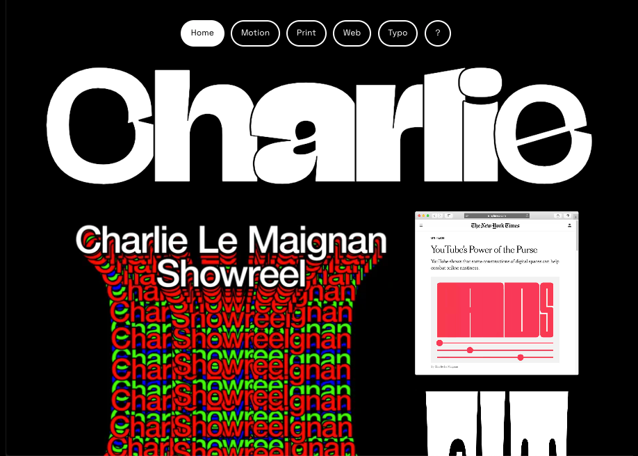 Awwwards website of the day: Charlie Le Maignan - Portfolio