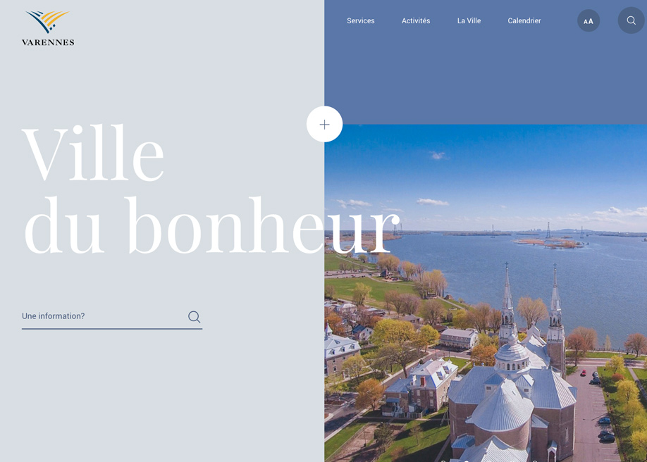 Awwwards website of the day: City of Varennes