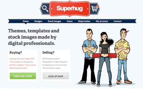 Superhug Theme & Microstock Marketplace