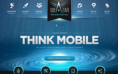 Quazar Mobile Web Design Costa Rica