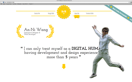 An-Ni Wang's interactive resume
