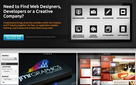 Find Web Designer, Developers, Photographers, Graphic Designers, Illustrators, UX Designers, Motion Designers, Copywriters.