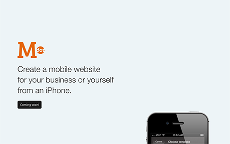 M.dot - Create a mobile website from iPhone