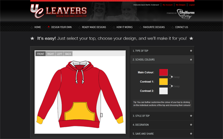 UC Leavers - Design your own school leavers