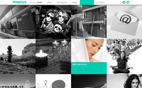 Alta Sartoria web design agency